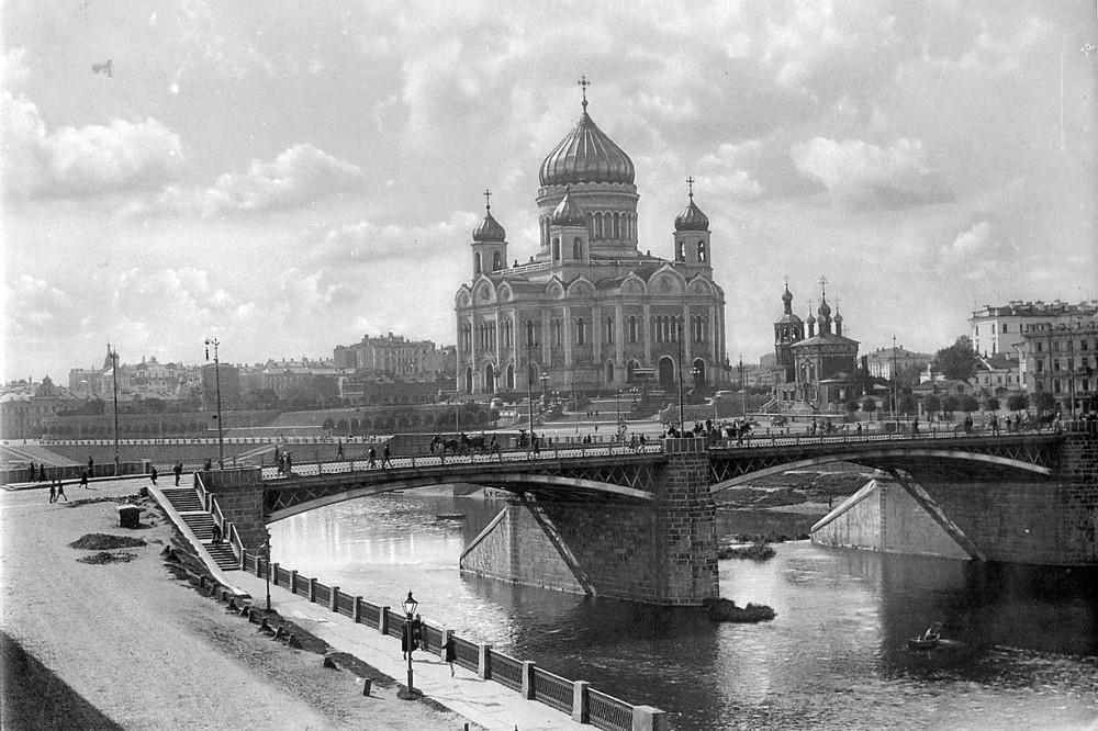 1931 год. Москва. Вид на Храм Христа Спасителя.