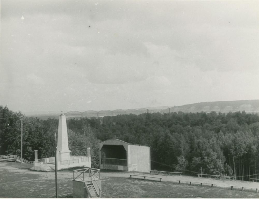 1931 год. Романовский мост через Волгу.