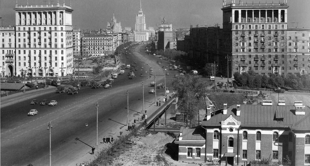 1958 год. Москва. Пересечение МОЖД и Кутузовского проспекта.
