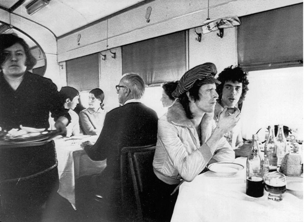 1973 год. Дэвид Боуи во время путешествию по Транссибу.