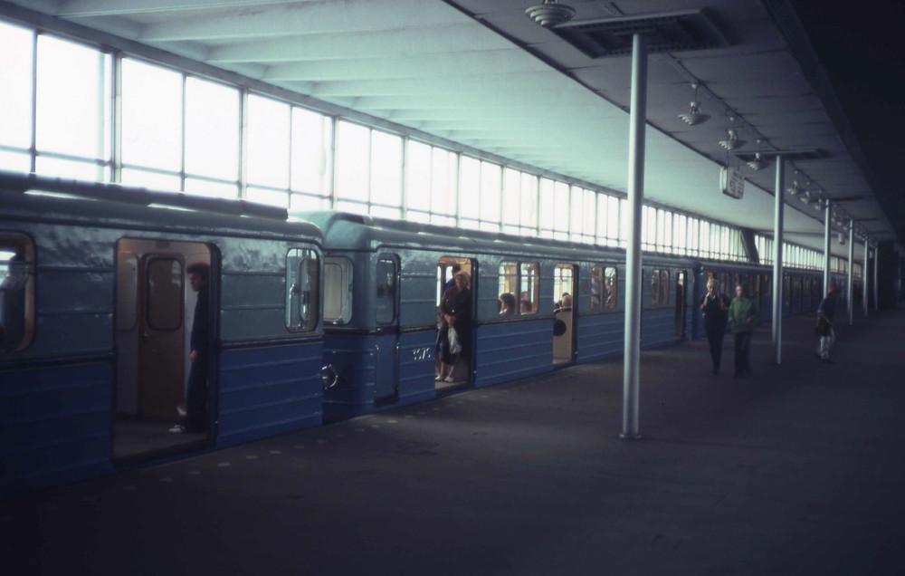 1982 год. Станция метро Ленинский горы.