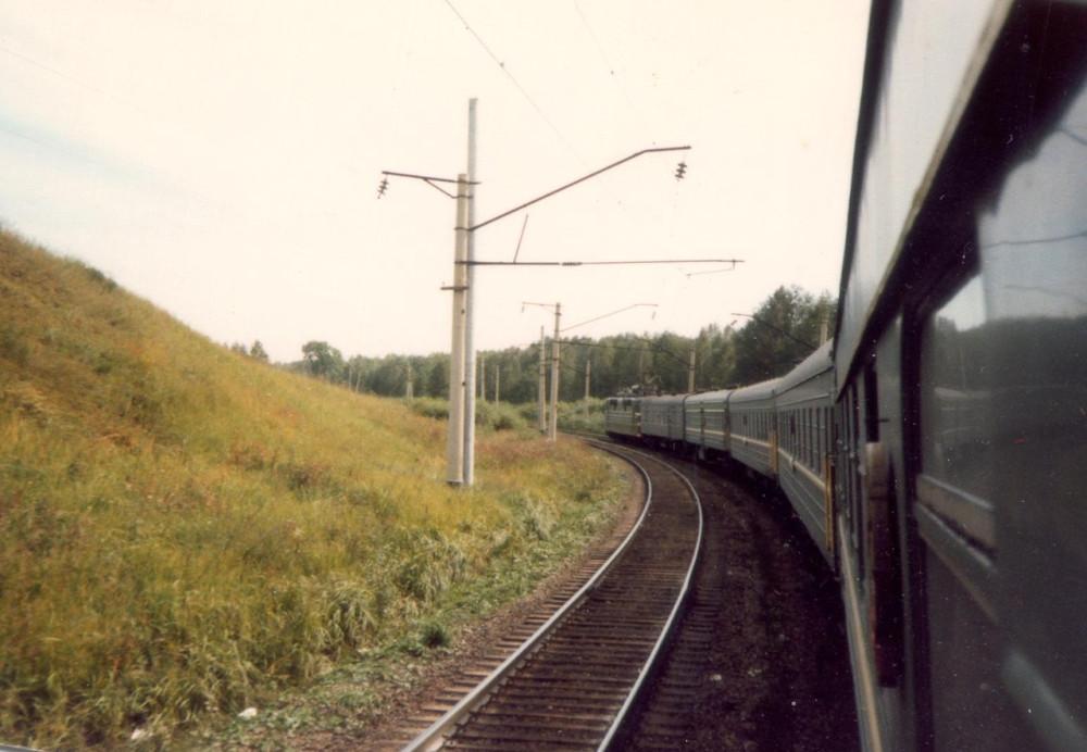 1985 год. На Транссибе. Вид из вагона.