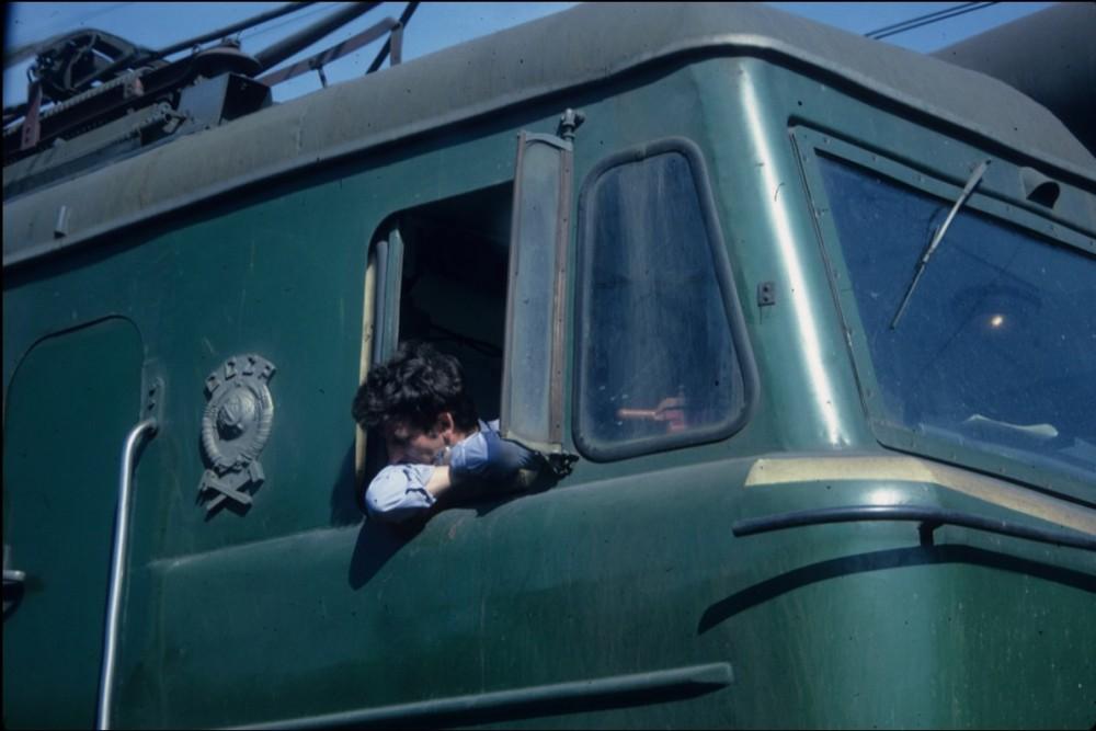 1985 год. На Транссибе. Машинист электровоза.