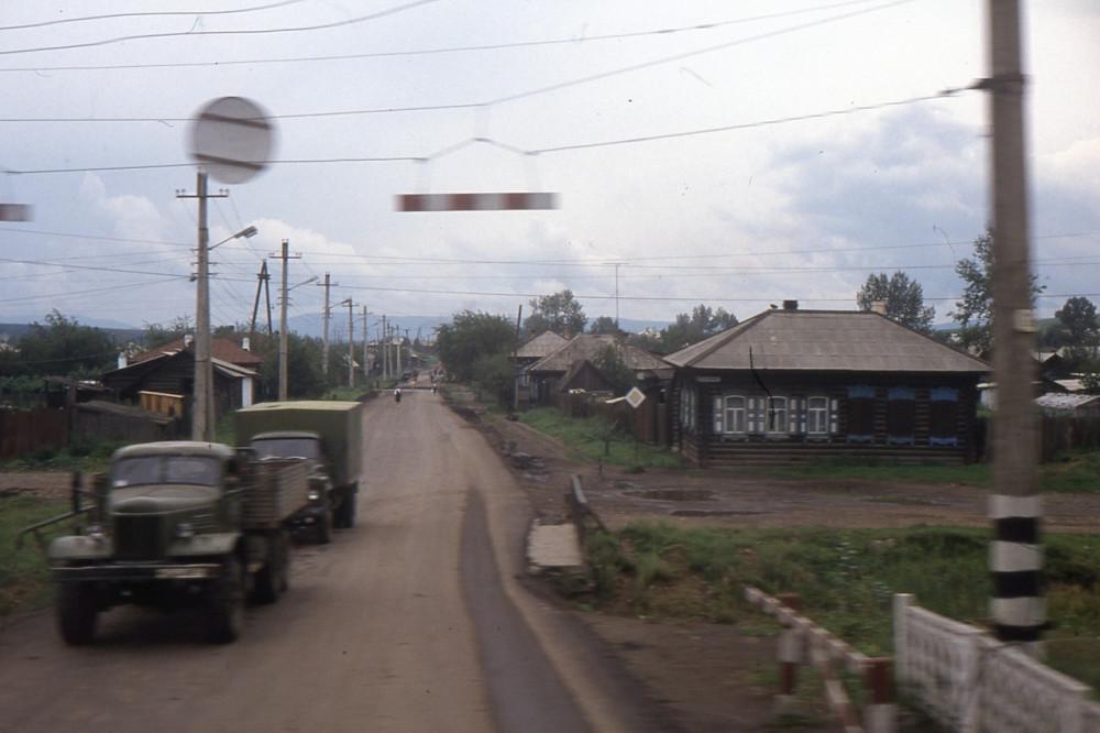 1991 год. Из окна вагона на Транссибе.