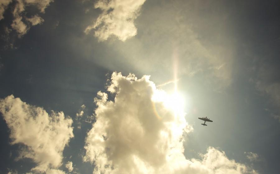 небо самолет