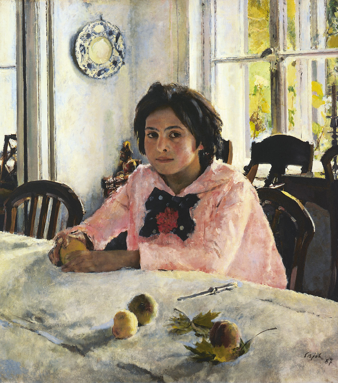 Walentin_Alexandrowitsch_Serow_Girl_with_Peaches