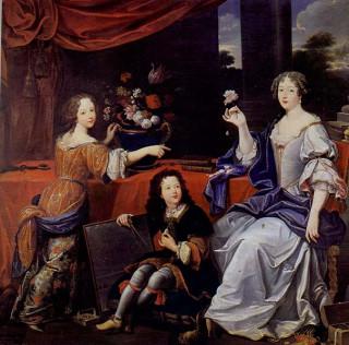 Луиза де Лавальер с детьми