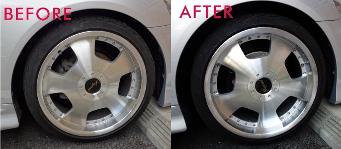 brake disk before after