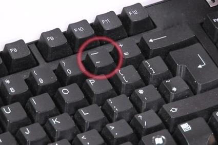 Тире на клавиатуре