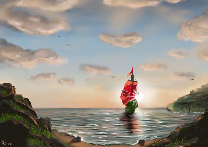 У каждого из нас есть в жизни  берег детства, где море сказок и волшебных снов