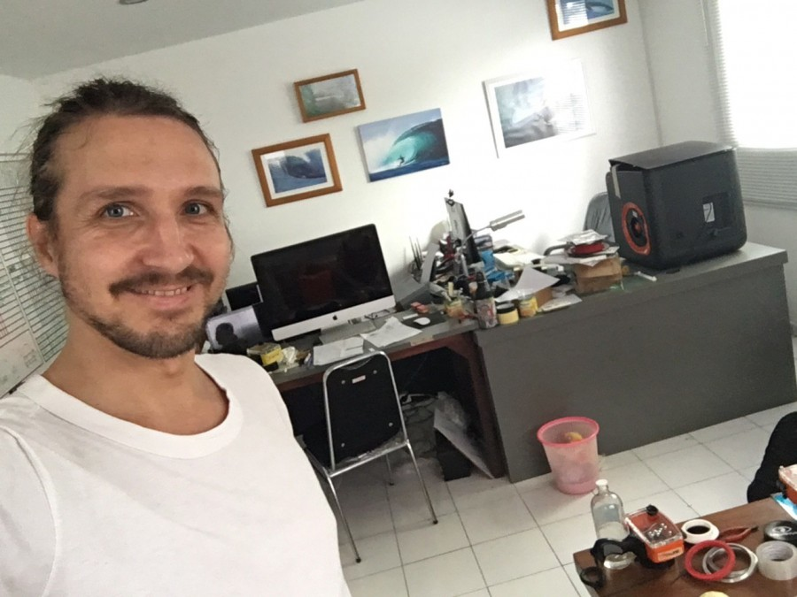 Photographer Vitaliy Sokol in LiquidEye Waterhousing Systems office