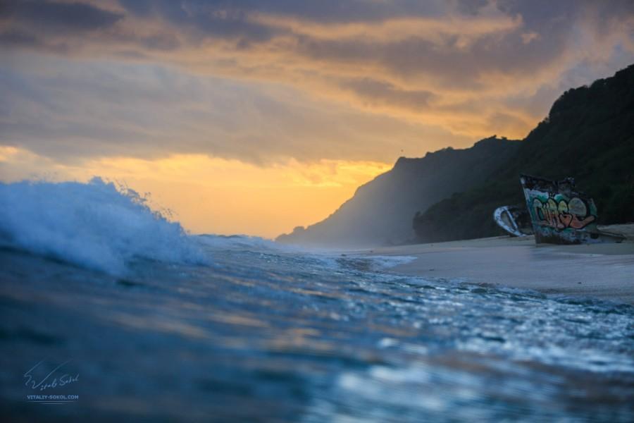 фото со стороны моря вид на Пляж Ньянг ньянг