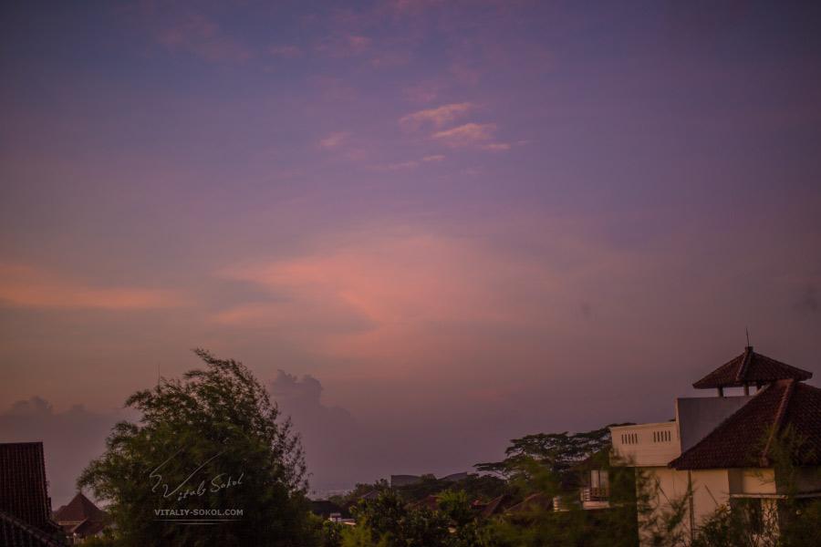 Bali evening clouds by Vitaliy Sokol