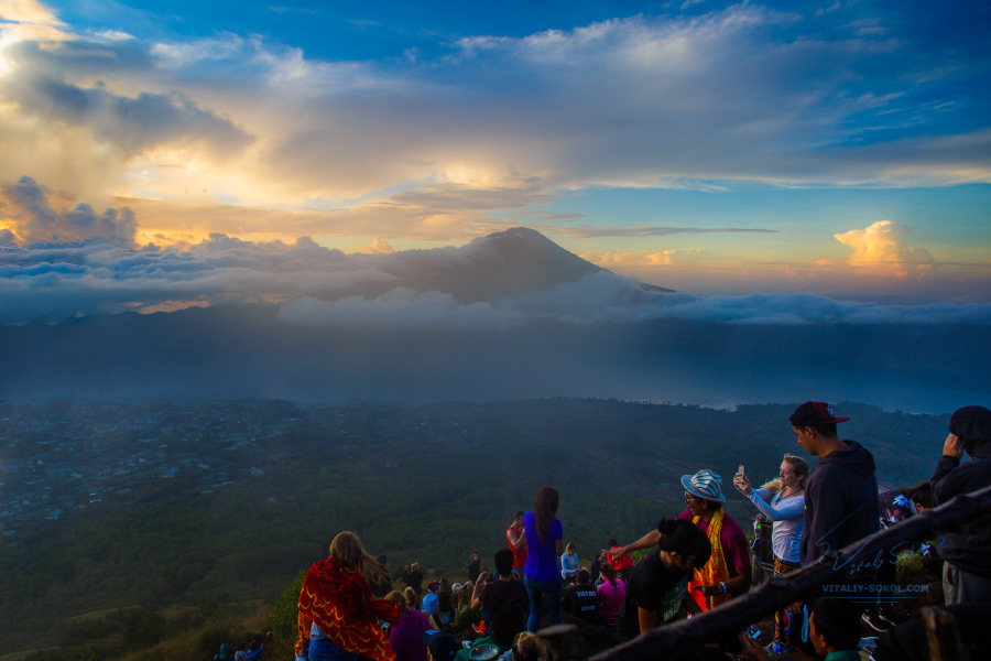 Sunrise at Batur Volcano