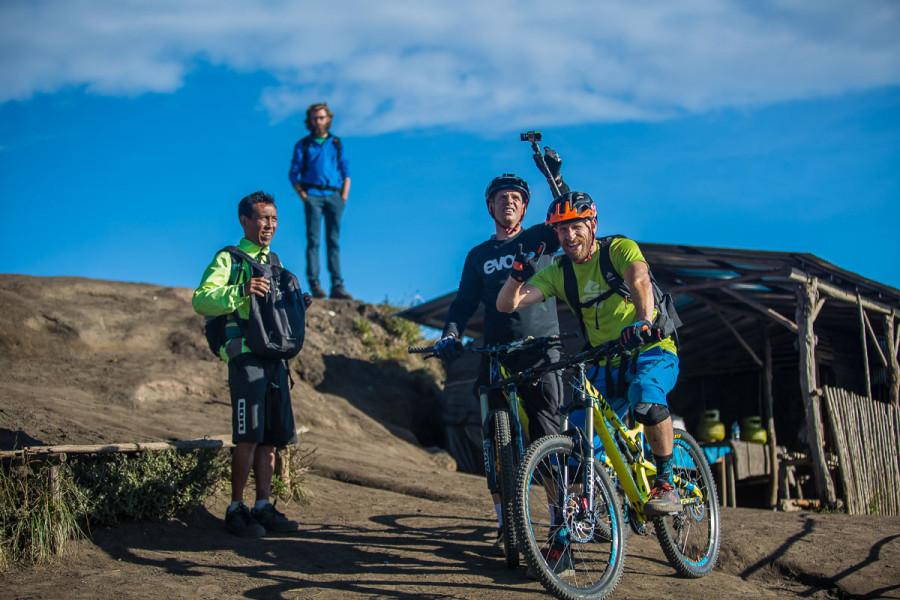 Bikers at Gunung-Batur