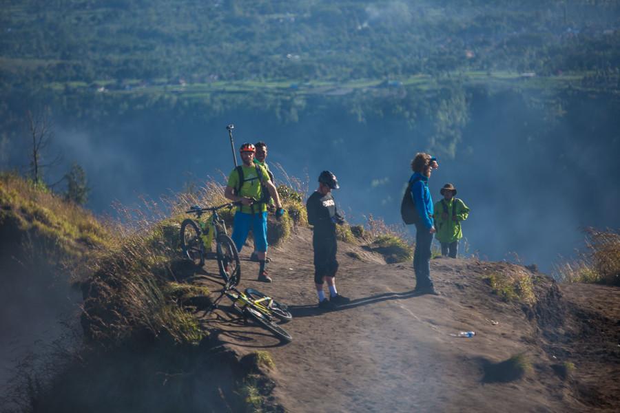 Norway Bikers at Hike of vocano Batur