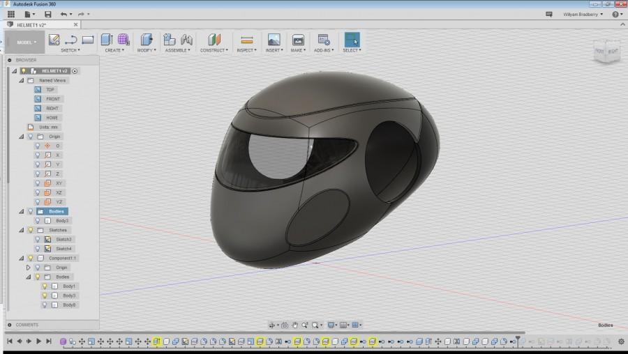 fusion 360 helmet model