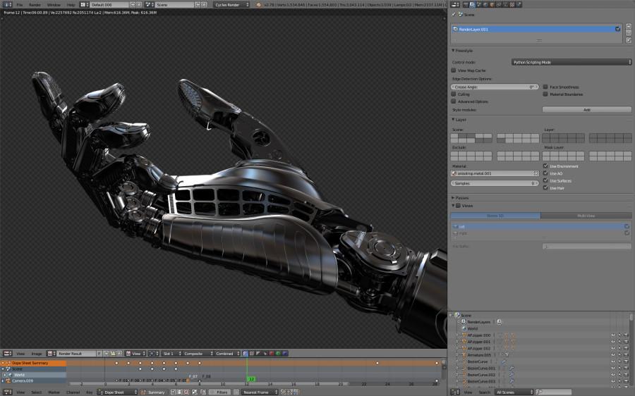 Роботы, механизмы, футуристические элементы 3Д от автора Will Falcon