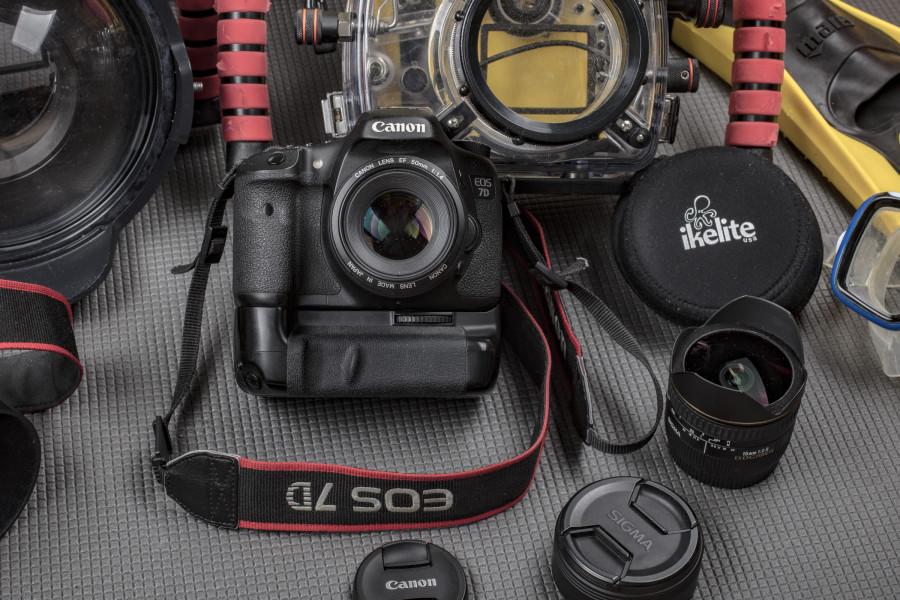Комплект оборудования для подводной фотосъёмки. Ikelite + canon 7D