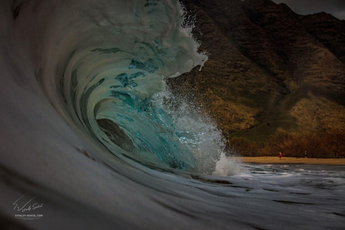 Гавайи, прибой, океанские волны