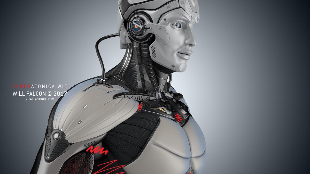 Модель робота в блэндере