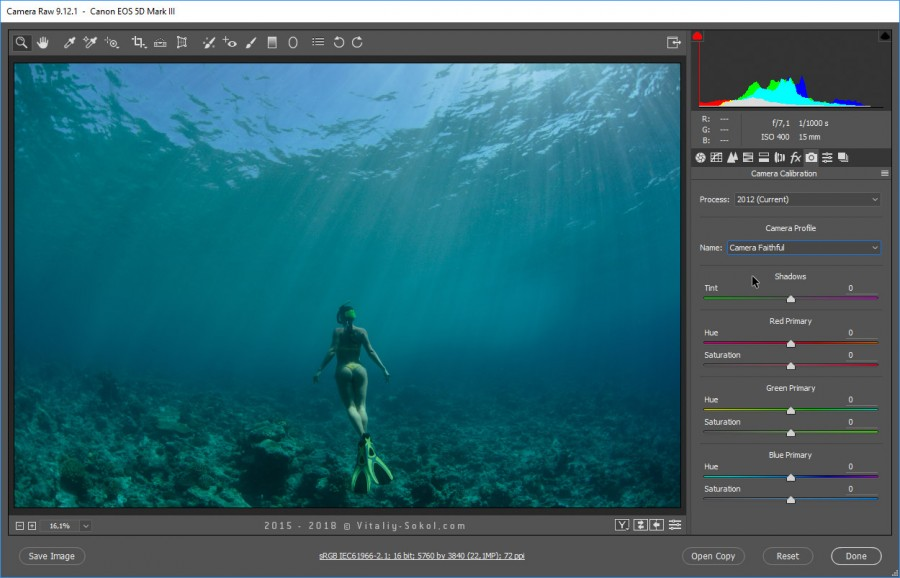 Underwater photo / Color Correction