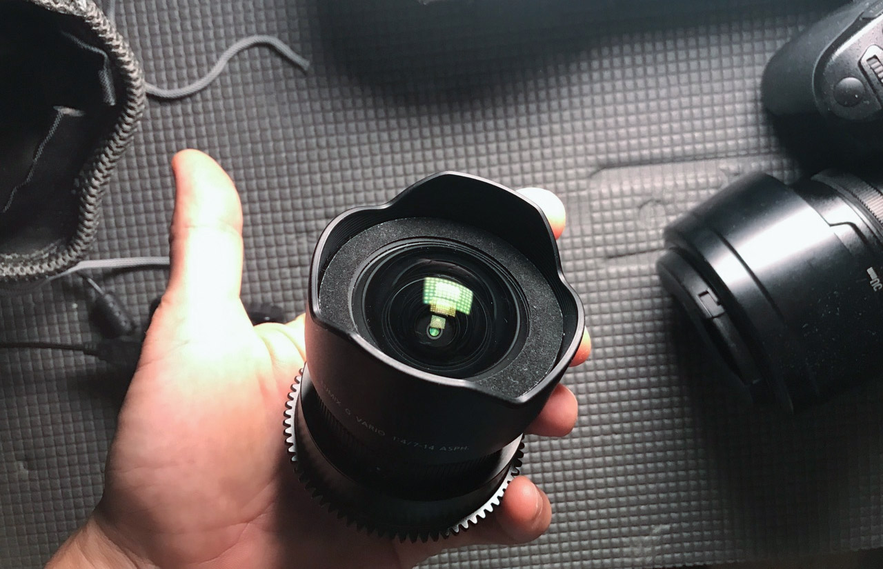 Panasonic Lumix G Vario 7-14mm f/4 ASPH. Lens. Modified for underwater photo/video