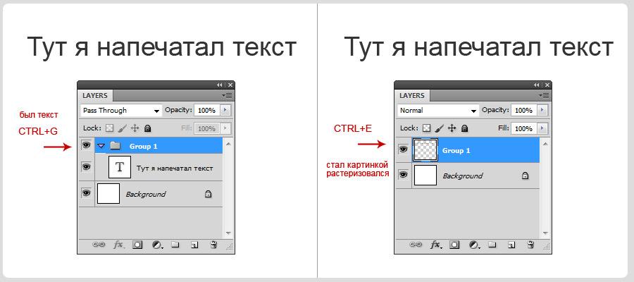 Photoshop. Tweaks and triks. Fastest way to rasterize text
