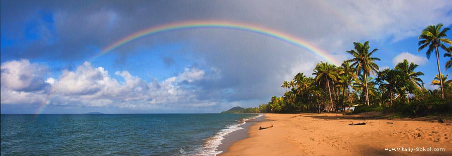 радуга над островом Фиджи