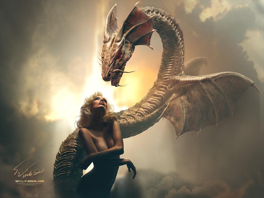 Дракон. Фотография дракона. Красивое фэнтези от Виталия Сокола.