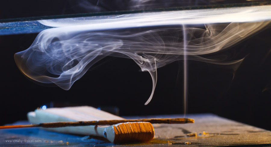 Colored Smoke. High resolution stock image