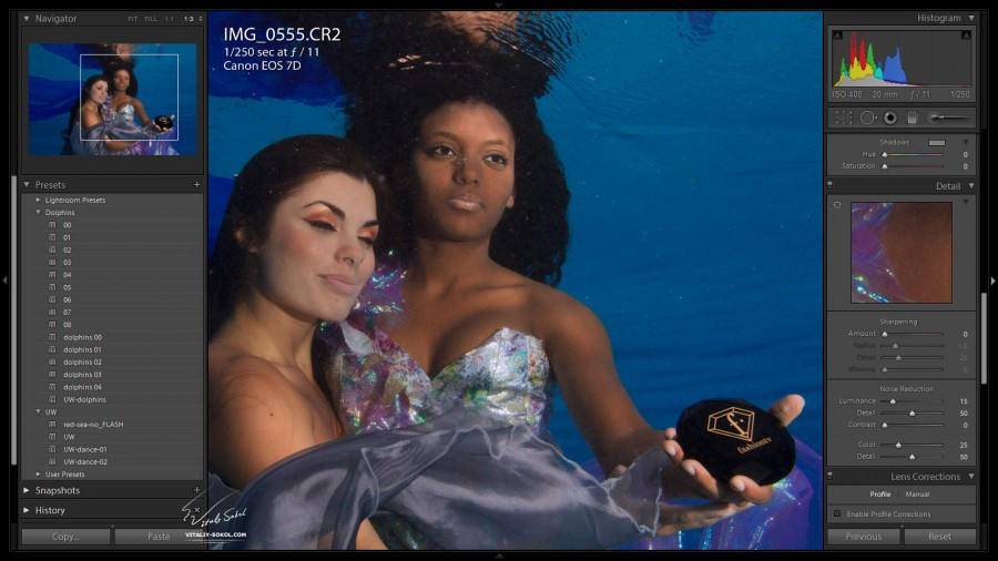 Fashion TV underwater clip. Photographer Vitaliy Sokol