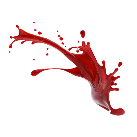 red liquid paint splashes