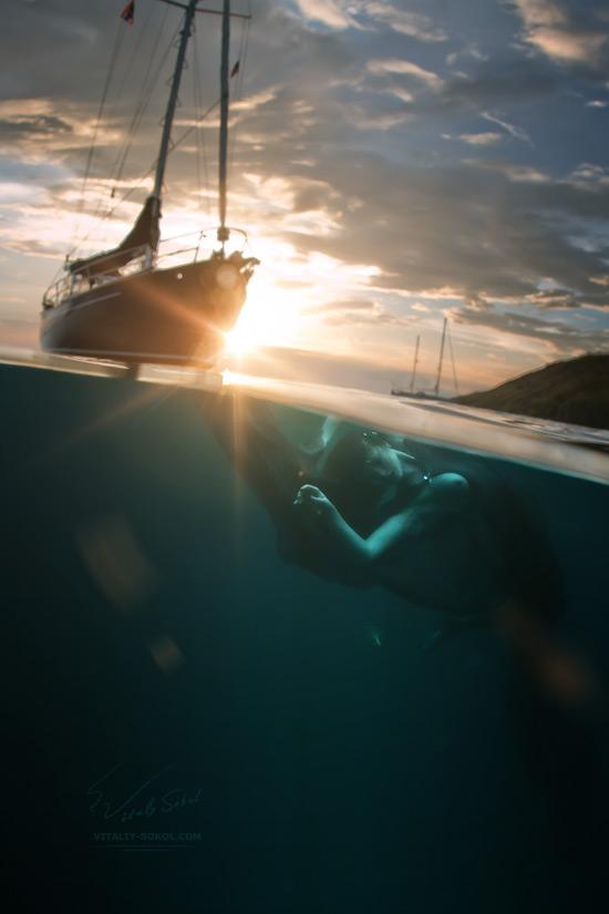Underwater Nude by Vitaliy Sokol