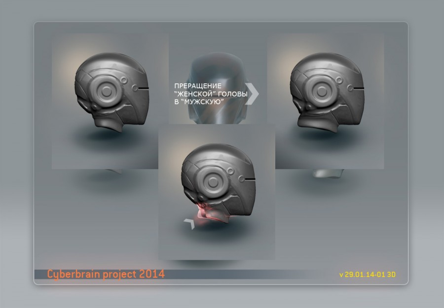 голова робота, концепт