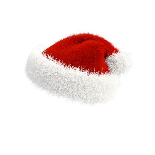 santa hat on transparent background