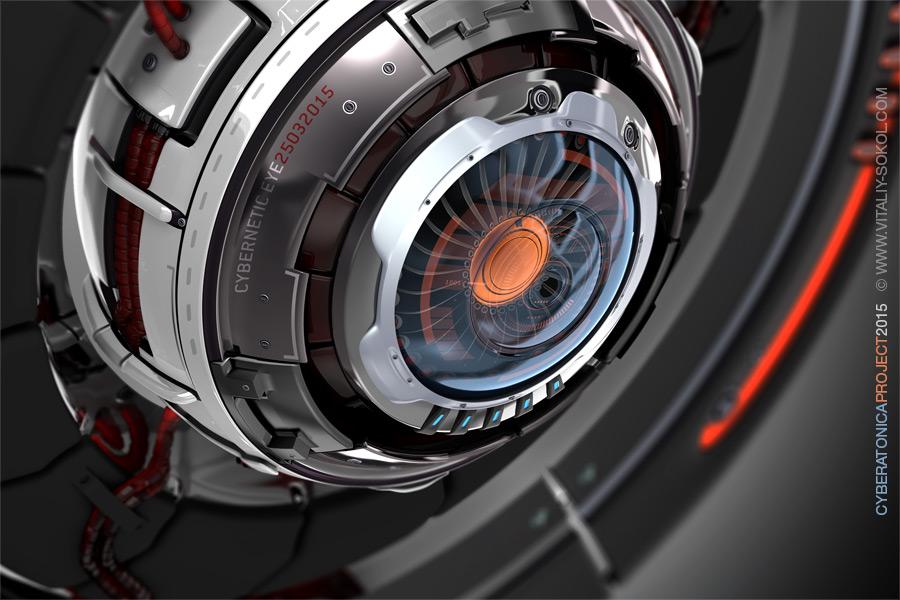 Cybernetic eye, robot, mechanical, hi-tech