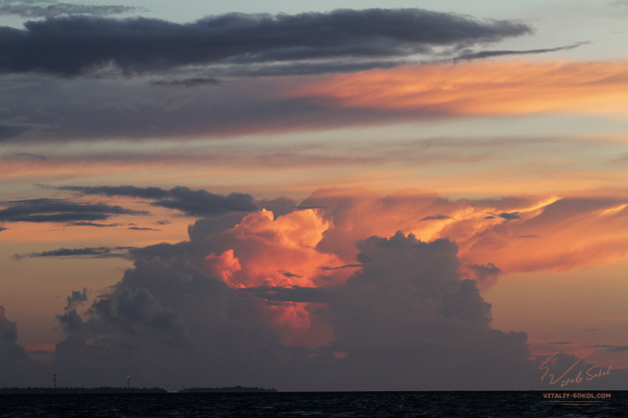Clouds at the sunset