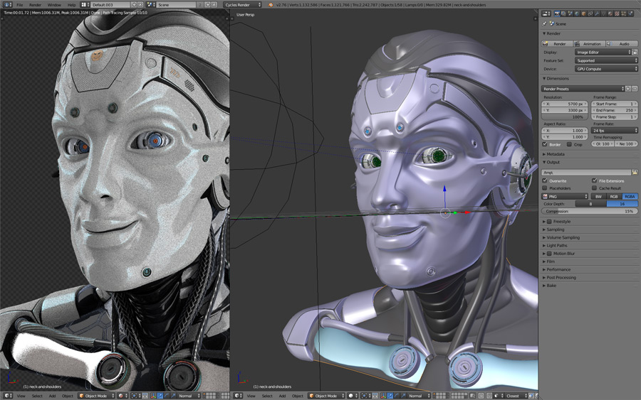 Blender. How to create robot