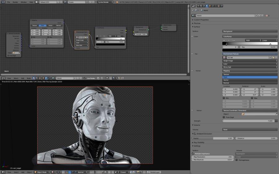Blender HDR settings for CYCLES render: screenshot