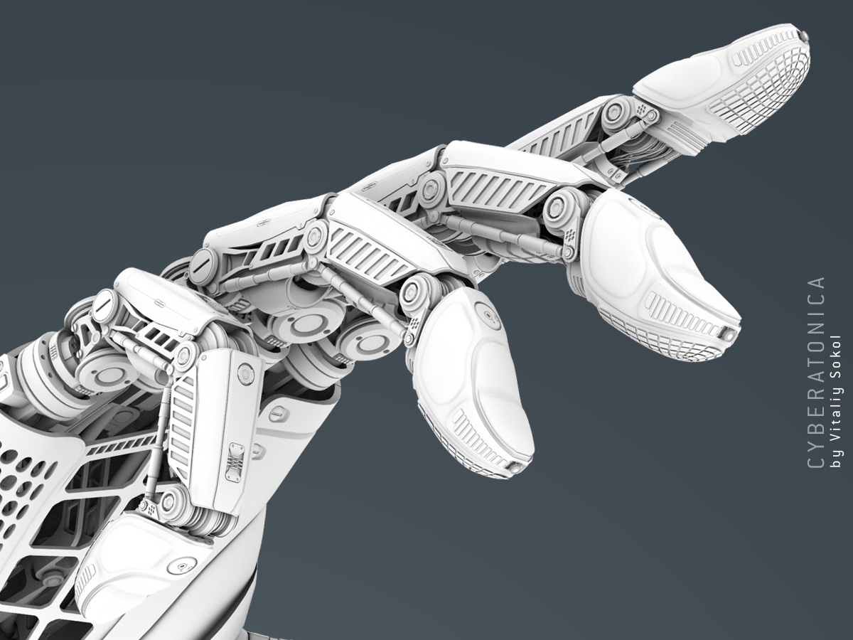 Robotic Arm Ambient occlusion pass