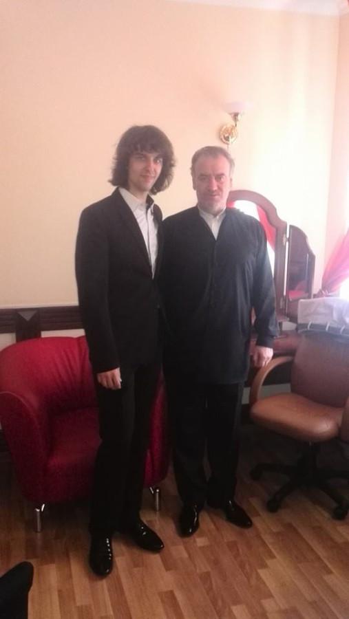 маэстро Гергиев и Санчо после концерта.