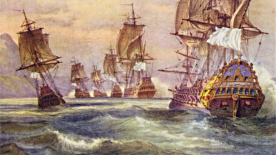 Атака французами португальской эскадры