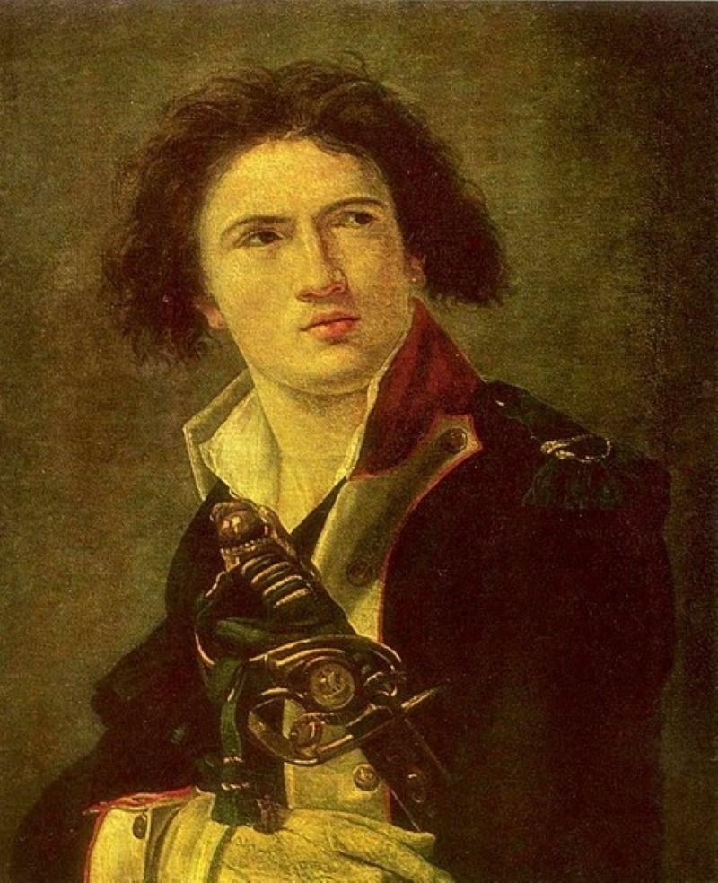Луи-Лазар Гош  сделал головокружительную карьеру  в французской революционной армии. Сын отставного солдата, рано потерявший мать и воспитываемый у тётки, в 15 лет работал помощником конюшего в королевских конюшнях в Монтрее, в 16 попал во французскую гвардию. После начала революции 1789 года остался в гвардии, через несколько месяцев был произведен в капралы, в мае 1792 года — в лейтенанты, а в сентябре того же года — в капитаны. Отличившись зимой 1792—1793 годов при наступлении французской армии в Бельгии, осенью 1793 года уже командовал армией.