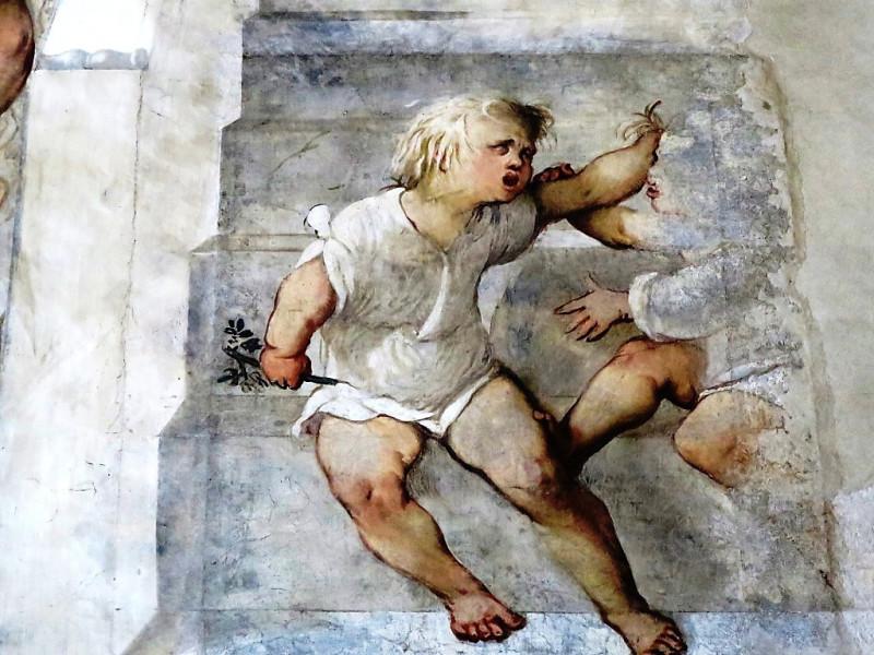 Изео. Пизонье. Chiesa di Santa Maria della Neve.Фрески Джироламо Романино, 16 век
