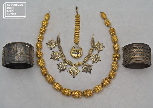 Кудрявский клад в коллекции Национального музея истории Украины, 12-13 век.