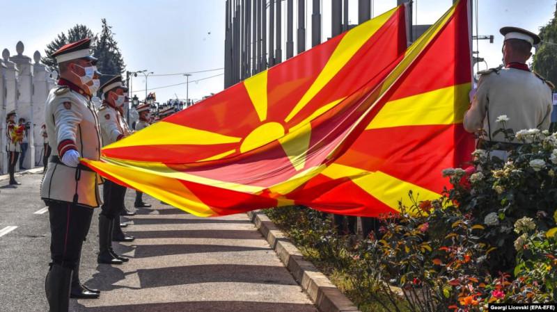 Во время празднования Дня независимости Македонии, Скопье, 8 сентября 2020