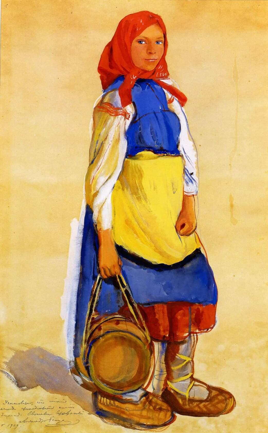 Крестьянская девушка 1909 год