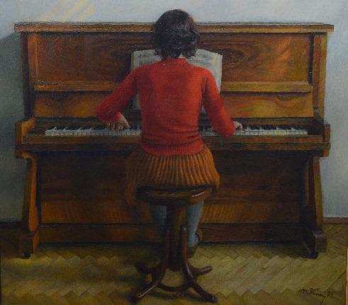 Молодая пианистка 1974 год
