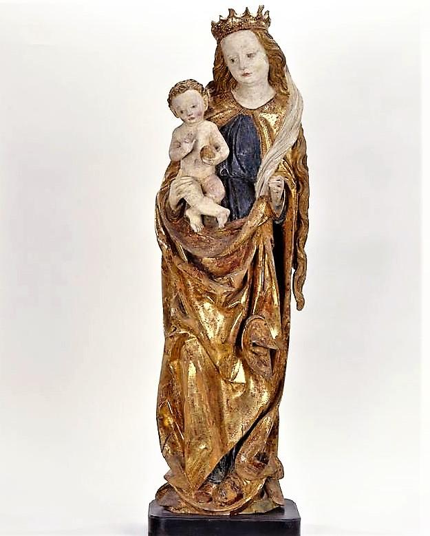 Мадонна с младенцем на полумесяце   Начало 16 века (?)   Германия (?)   Дерево, резьба, полихромная роспись